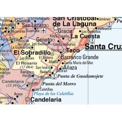 Tenerife / La Palma, El Hierro and La Gomera Wall Map - Phys. / Pol.