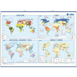Thematic mural world map
