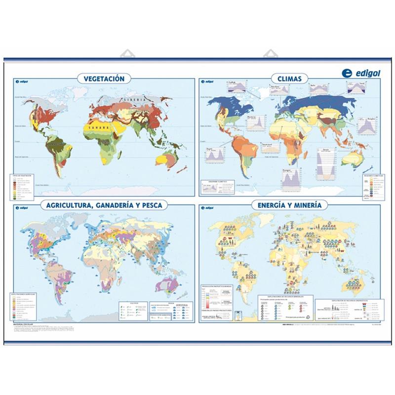 Carte murale du monde Thématique