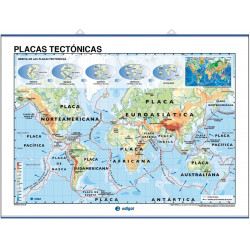 Wall map, Continental and Underwater reliefs / Tectonic plates