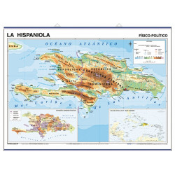 Hispaniola, Physical-Political / Central America & the Caribbean, Pol.