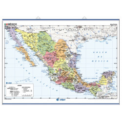 Mexico Wall Map - Physical / Politica