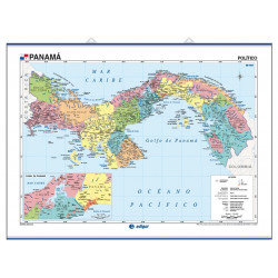 Mapa mural de Panamà - Físic / Polític