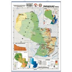 Mapa mural de Paraguay - Físico / Político
