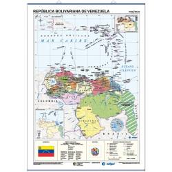 Venezuela Mural Map - Physical / Political
