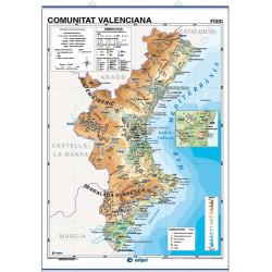 Carte murale de la Communauté valencienne, Physico-Économique / Politique