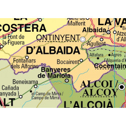 Wall map of the Valencian Community, Physical-Economic / Political