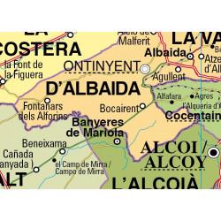 Mapa mural de la Comunitat Valenciana, Físico-Económico / Político