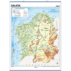 Mural map of Galicia, Physical / Political