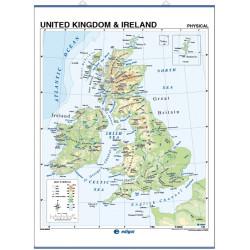Mapa mural del Regne Unit - Físic / Polític