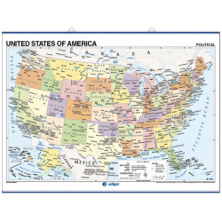 United States Wall Map - Physical / Political
