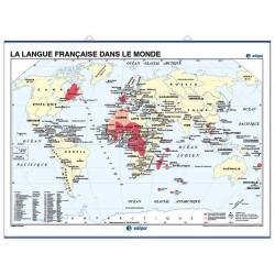 Mapa mural de la Llengua francesa al món