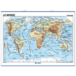 Mural map of the French language in the world