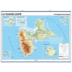 Mapa mural de Guadalupe, Físic-Polític / Amèrica Central i el Carib
