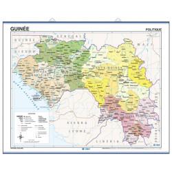 Mapa mural de Guinea - Físico / Político