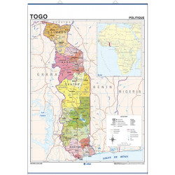 Togo, Physical / Political,...