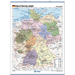 Wall map of Germany, Physical / Political