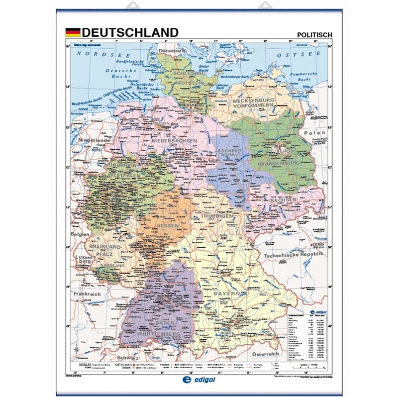 Mapa De Alemania Politico.Mapa Mural De Alemania Fisico Politico