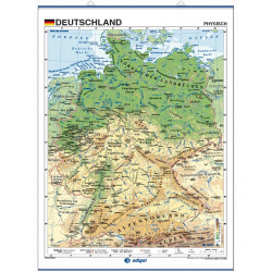 Germany Wall Map - Physical / Political