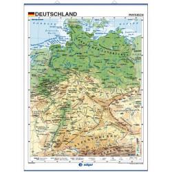Mapa mural de Alemania - Físico / Político