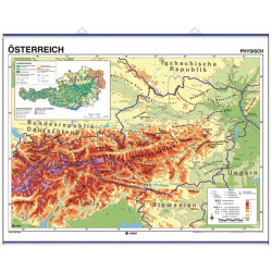 Austria Wall Map - Physical / Political
