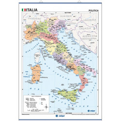 Wall map of Italy, Physical / Political