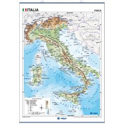 Carte murale de l'Italie - Physique / Politique