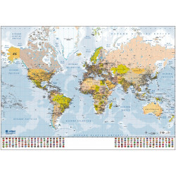 World Map (Mercator),...