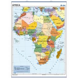 Mapa pòster d'Àfrica, 70 x 50, Polític