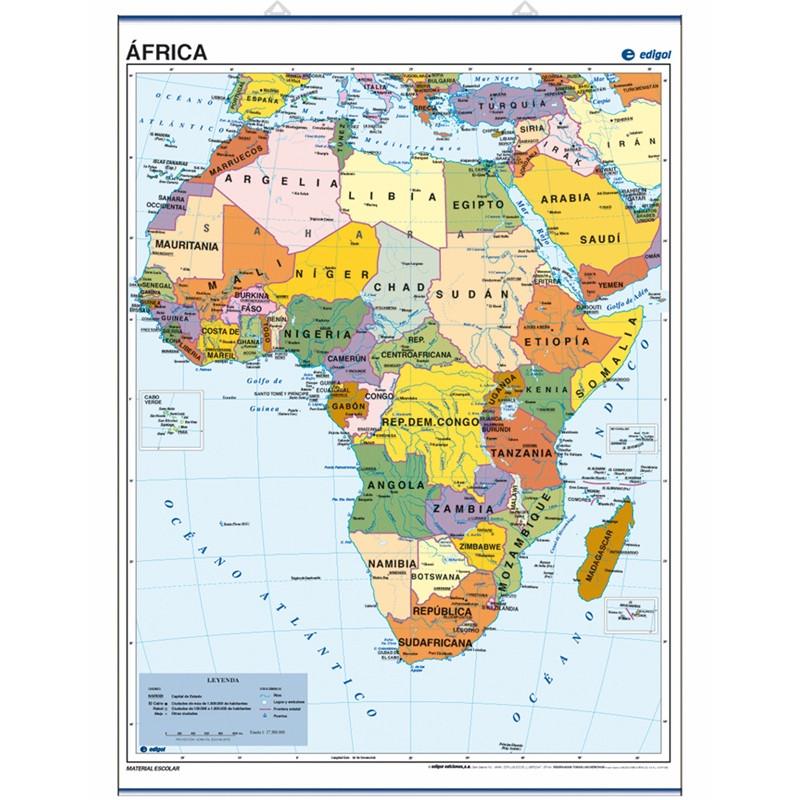Carte poster de l'Afrique, 70 x 50, Politique