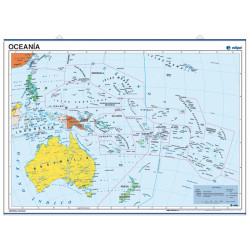 Poster map of Oceania, 70 x 50, Political