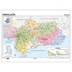 Póster - Andalucía físico/ político