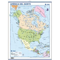 Mini-mural - América del Norte, político