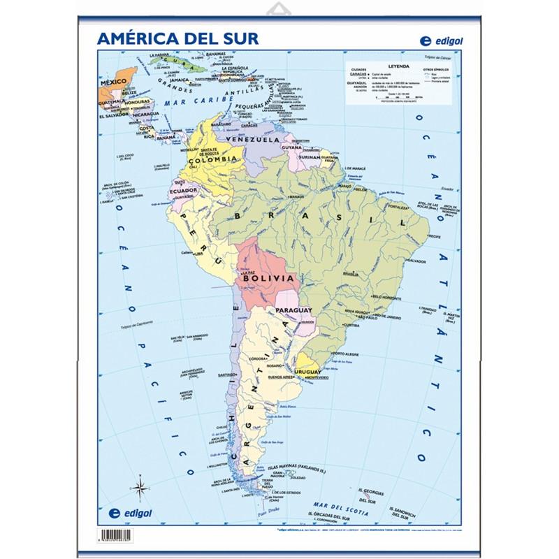 Mini-mural - América del Sur, político