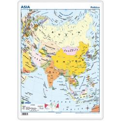 Escritorio - Asia, político / físico