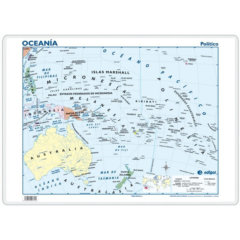 Escritorio - Oceanía, político / físico