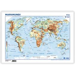 Mapamundi, Físic, 42 x 30 cm