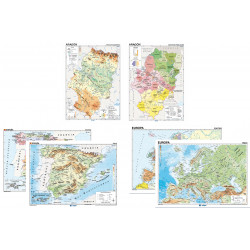 Wall maps: Aragon + Spain +...